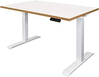 Novigami Ototo Bureau électrique réglable en hauteur   L x P : 1200 x 800 mm   chêne blanc   Armature de table table Table...