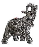 Homerry Fengshui - Figuritas de elefante con tronco elevado para decoración del hogar...