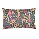 Kailey hello Pillows Covers Hold Math Doodle Blue for Everyday 20x30 Linen Pillowcases