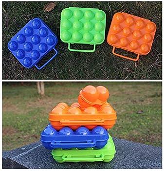 BrilliantDay Portable Porte-Oeufs/Boîte à Oeufs en Plastique pour Camping et Pique-Nique (Couleur Vert)