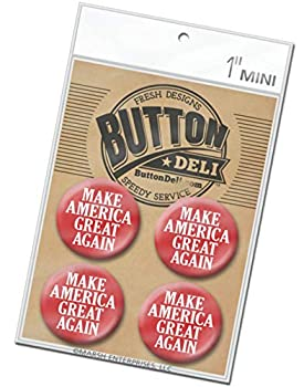 4-Pack Mini 1 Inch Buttons - Make America Great Again Red MAGA Trump 2020 - Lapel Pins 5892
