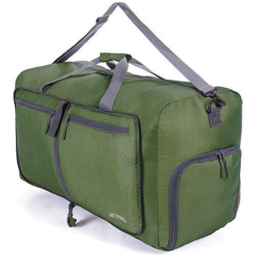 JETPAL Espacioso Plegable Bolsa de Viaje–Elegir su tamaño, Verde