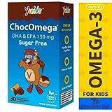 YumVs ChocOmega Omega-3 Vitamin Chewables for Kids, Sugar-Free Milk Chocolate (Orange-Flavored); 150mg (126 mg DHA, 24 mg EPA) Children's Daily Dietary Supplement (30 Count)