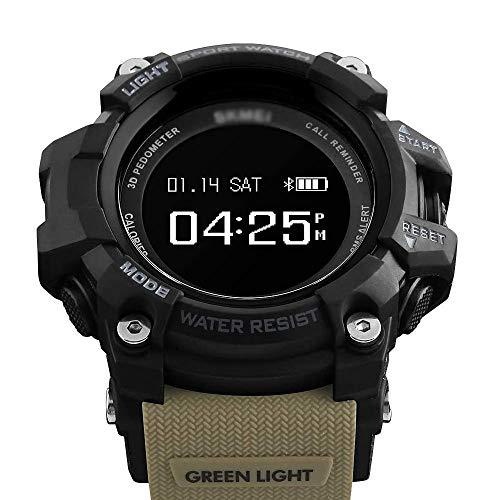 Reloj inteligente impermeable Bluetooth pulsera deportiva, consumo de calorías-Verde militar