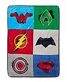 DC Comics Justice League Plush Super Soft Throw Blankets (46'x60')