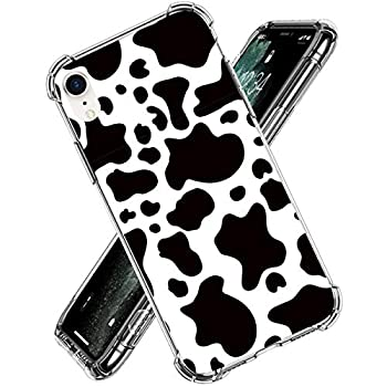 Cow Print Phone Case for iPhone 11,11 Pro,11 Pro Max,iPhone X,XS XR,iPhone 7/8,7/8 Plus Flexible Soft TPU Lifeproof Shockproof Protection Slim Basic Case Cover