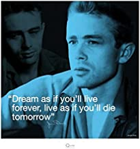 James Dean Dream Celebrity Hollywood Icon Quote Poster Print 16 by 16