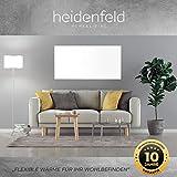 Heidenfeld Infrarotheizung HF-HP100 800 Watt Weiß - inkl. Thermostat - 10 Jahre Garantie - Deutsche Qualitätsmarke - TÜV GS - Für 12-19 m² Räume (HF-HP100 800 Watt) - 2