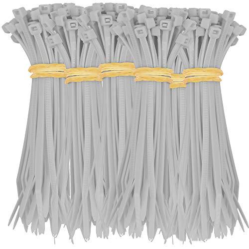 330 Kabelbinder 100x2,5 mm schwarz weiß rot blau grau rosa gelb orange hochwertig extrem robust UV beständig ca. 8,2 KG Zugfestigkeit (Grau)