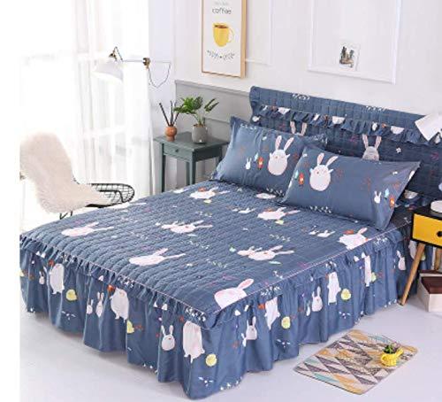 Plus Katoen gewatteerd bed rok dekbed gewatteerd dekbed bed eendelige matras topper dubbele 220X200cm
