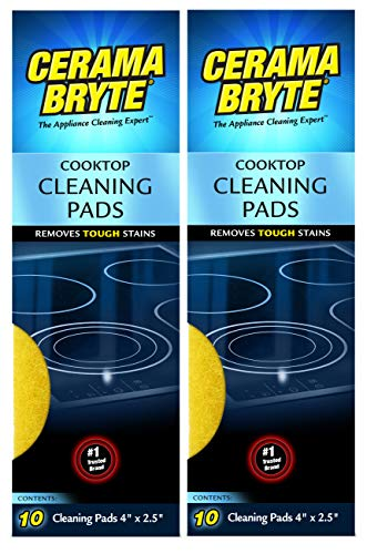2 Pack Cerama Bryte Ceramic Cooktop Cleaning Pads Total 20 Pads