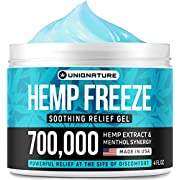 Hemp Cream - Pain Relief Cream - Relieves Inflammation, Muscle, Joint, Back, Knee, Nerves & Arthritis Pain - High Strength Hemp Oil Formula Gel - Natural Hemp Extract for Pain Relief - Made in USA