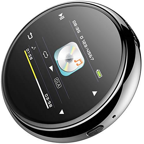 Bias&Belief Reproductor MP3 Portátil, Reproductor de Música de 32GB con Bluetooth, Pantalla de 1,5 Pulgadas, Grabación de Voz, Radio FM, Lector de Libros Electrónicos, Visor de Fotos