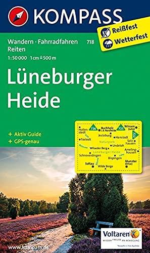 Lüneburger Heide: Wanderkarte mit Aktiv Guide, Radrouten und Reitwegen. GPS-genau. 1:50000 (KOMPASS-Wanderkarten, Band 718)