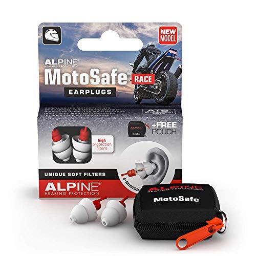 Alpine MotoSafe Tappi da Gara – Previeni i danni alle orecchie quando guidi la moto – Senti i rumori della strada – materiale comodo ipoallergenico – Riutilizzabili