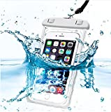 PHONILLICO Sac Waterproof Blanc pour ONEPLUS 6 5T 5 3T 3 Coque Housse Etui Universel Boitier...