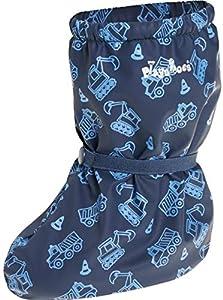 Playshoes Cubrebotas de Lluvia con Forro Obras, Cubrecalzado Impermeable Unisex niños, Azul (Marine 11), Medium EU