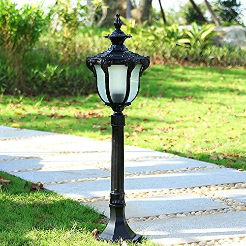 Lámpara De Jardín para Exteriores, Lámpara De Pie, Lámpara De Pie De Aluminio E27, Bolardo De Vidrio Impermeable IP65 para Camino, para Cubierta De Entrada De Césped