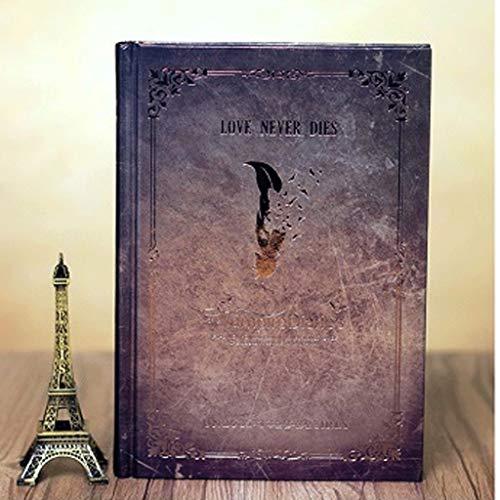 YANYAN Cuaderno Vampire Diaries Notebook Hard Cover Calidad Papel Viajeros Trabajo Estudio Estudio Tabs Diario Libro Aprendizaje Estudiante 5x7.3 Pulgadas Diario (Color : Gris)
