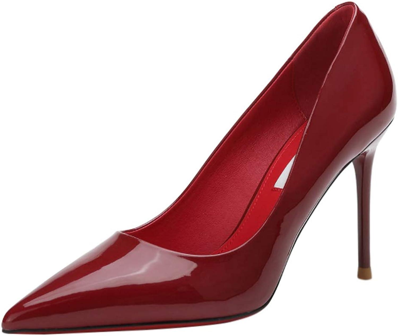 Yudesun Court Women High Heels - Ladies Stiletto Slip On Pointed Toe Pumps Elegant Dress Court shoes