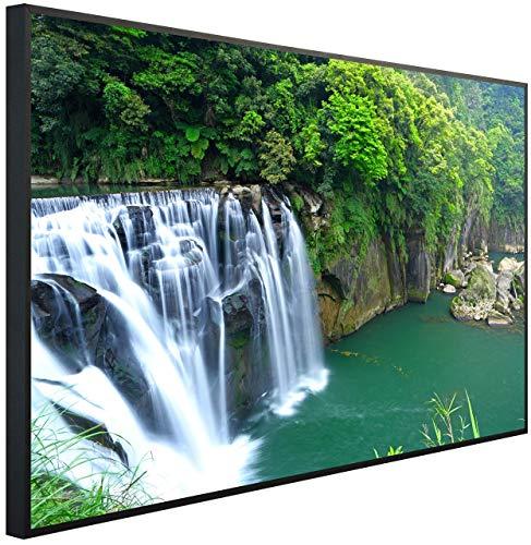 InfrarotPro Infrarotheizung, Wasserfall in den Tropen, 120x75x3 cm