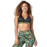 Zumba Dance Bralette Sujetador Deportivo Mujer Fitness Workout Sujetador Deportivo Activo, Black BB, L