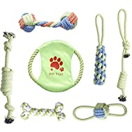 SILVERAL Dog Rope Toys Set Puppy Tooth Rope Toy Set Durable and Bite-Resistant Cotton Rope Set Toys