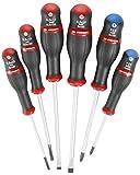 Facom - Lot de 6 tournevis protwist-empreinte fente ou plat et phillips ou cruciforme