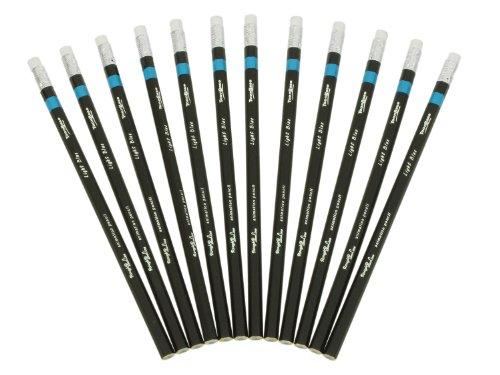 ToonBase 12 Rough2Line radierbare Buntstifte, wisch- & schmierfest, pigmentreicher Farbabtrag - Light Blue
