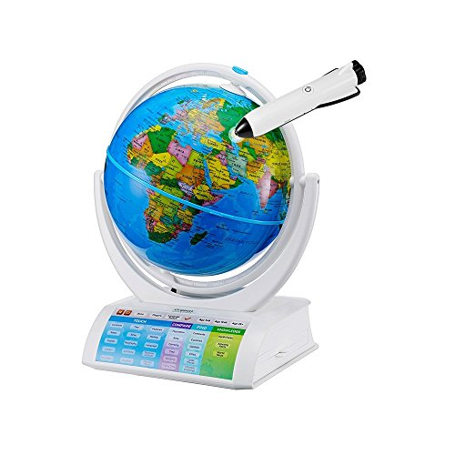 Oregon Scientific SG338R Smart Globe Explorer AR Educational World Geography Kids-Learning Toy Space Planet Science Earths Inner Core Bluetooth Pen