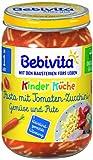 Bebivita Kinder-Küche 1-3 Jahre Pasta mit Tomaten-Zucchini-Gemüse und Pute, 250 g