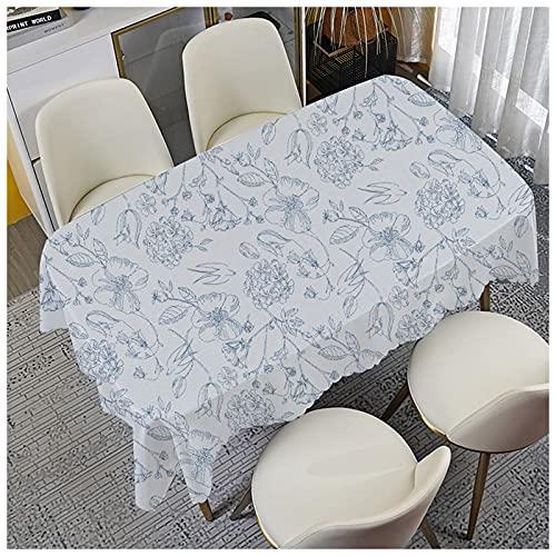 Liujiu Tovaglia rettangolare in cotone e lino, senza pieghe, tovaglia lavabile, tovaglia per cucina da pranzo, 90 x 90 cm