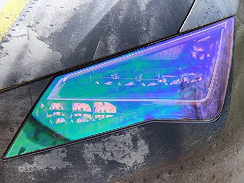 RLS - Lámina para faro Camaleón (30x 100cm) de lámina fina tintada para luces traseras, faros antiniebla