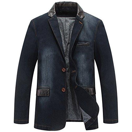 GYXYYF grote maten Casual Blazer mannen kleding Denim Blazer Slim Fit Jeans Blazer Masculino pak jas