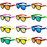 Giftinthebox Kids Sunglasses Bulk, 12 Pack Sunglasses Kids Party Favor, Boys and Girls, Pool Toys, Summer Toys, Party Toys, Goody Bag Stuffers, Gift for Birthday Party Supplies