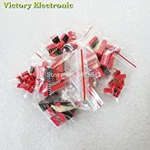 Value.Trade.Inc - 70PCS/LOT Dip Switch Kit 1 2 3 4 5 6 8 Way 2.54mm Toggle Switch Red Snap Switches Mixed Kit Each 10PCS Combination Set
