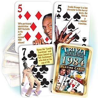 Flickback Media, Inc. 1984 Trivia Playing Cards: Birthday Gift or Anniversary Gift