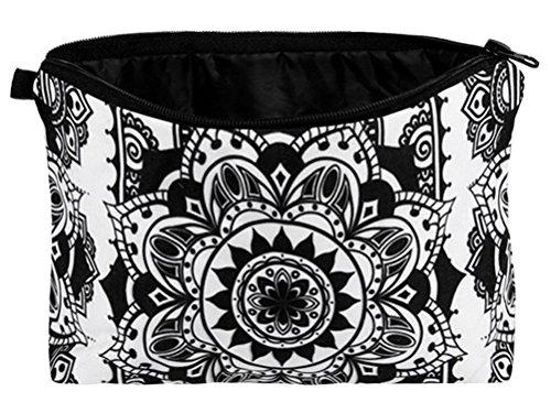 Mandala Trousse de maquillage Noir/blanc