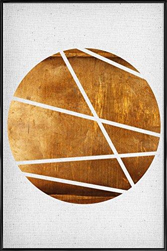 """JUNIQE® Abstrakt & Geometrisch Poster im Kunststoffrahmen 40x60cm - Design """"Circle"""" entworfen von Froilein Juno"""