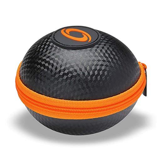 Powerball Kernpower® Original Case/Hülle/Etui für Fast alle Original Modelle, stoßfeste Transport-Tasche mit Reißverschluss, anthrazit/orange