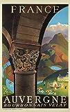 Unbekannt Poster Auvergne Bourbonnais Velay Reproduktion,