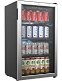 hOmeLabs Beverage Refrigerator and Cooler - 120 Can Mini Fridge with Glass Door for Soda Beer or Wine - Small...