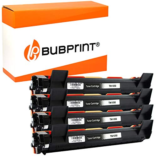 4 Bubprint XXL Cartucce Toner compatibili per Brother TN-1050 per DCP-1510 DCP-1510E DCP-1512 DCP-1512E DCP-1610W DCP-1612W HL-1110 HL-1110E HL-1112 HL-1210W HL-1211W HL-1212W MFC-1810 MFC-1910W Nero