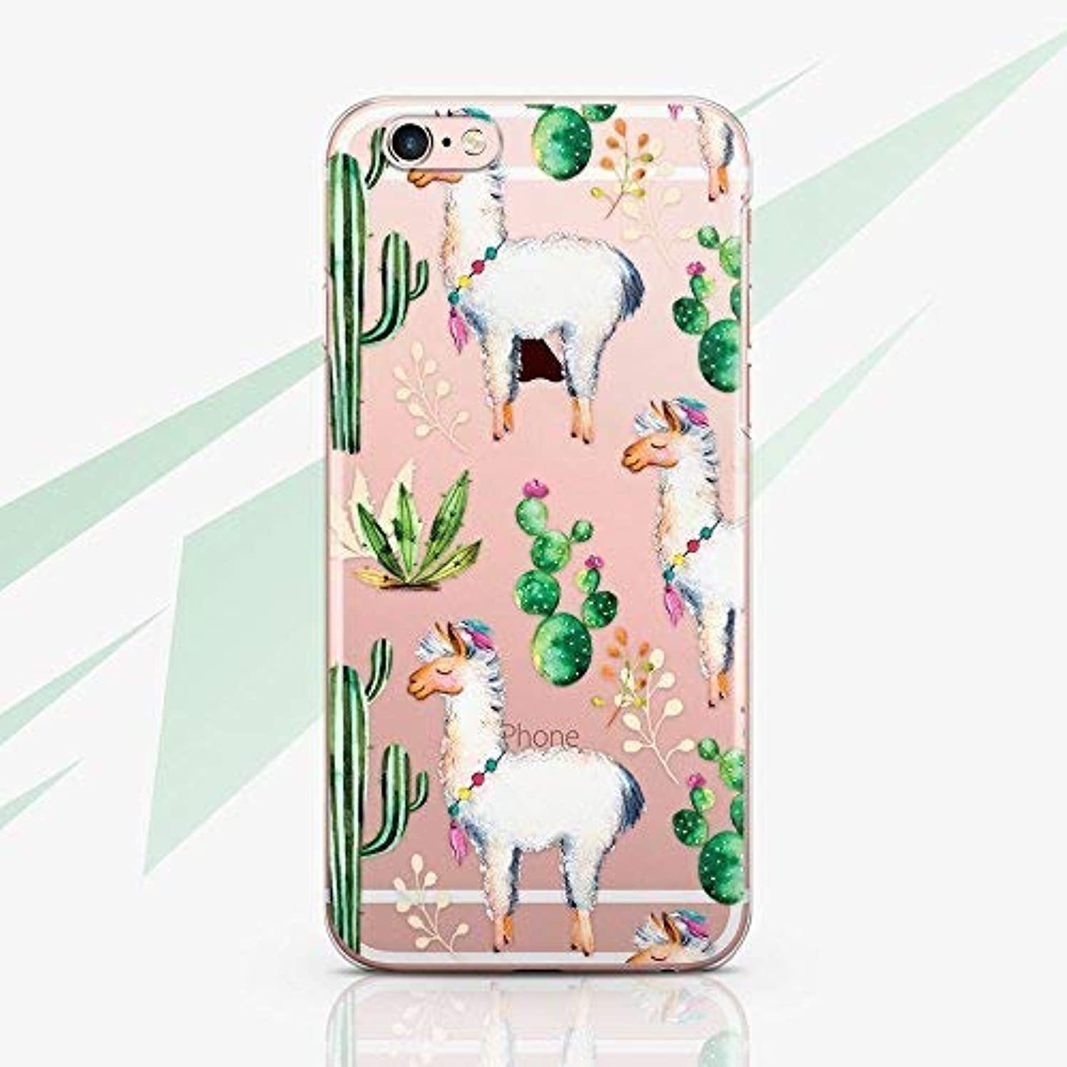 Lama No Prob Lama Case Cell Phone Silicone Plastic Case for Apple iPhone X XS Max XR 10 8 7 Plus iPhone 6 6S Plus iPhone 4 4S iPhone 5 5S 5C SE Protective Cover Case Alpaca Cactus RA1591