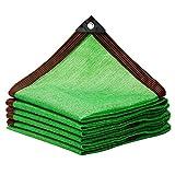 KKJKK Paño de la Cortina Protector Solar Malla Sombra 95% Resistente A Los UV Toldo De Protección Solar Pabellón Malla Lona para Invernadero Flores Plantas Al Aire Libre Patio,Verde,8x8m