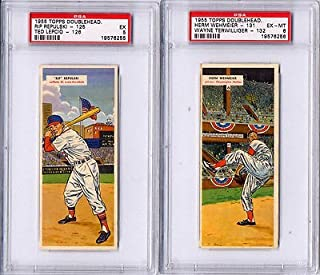 1955 Topps DoubleHeaders #125 126 Rip Repulski Ted Lepcio PSA 5 CARDS RED SOX
