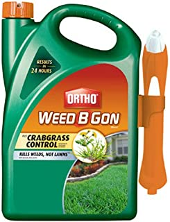 Ortho Weed B Gon MAX Weed Killer for Lawns Plus Crabgrass Control Ready-To-Use Trigger Spray, 1-Gallon