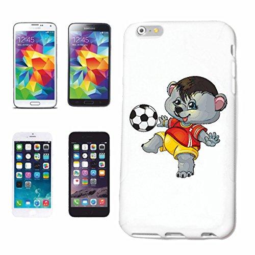 Reifen-Markt Hard Cover - Funda para teléfono móvil Compatible con Samsung Galaxy S7 pequeño Mapache Jugando al fútbol con el fútbol y Trikot Tronco Animal Elefant