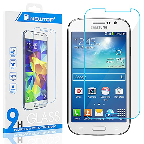 N NEWTOP [1 PEZZO] Pellicola GLASS FILM Compatibile con Samsung Galaxy Grand Neo/Grand Neo Plus (I9060/ I9080), Fina 0.3mm Durezza 9H Vetro Temperato Proteggi Schermo Display Protettiva Anti Graffio