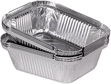 100 bandejas de aluminio cuadrado modelo